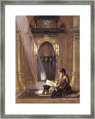In The Mosque Framed Print