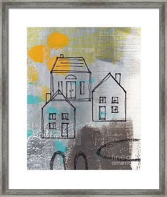 In The Neighborhood Framed Print by Linda Woods