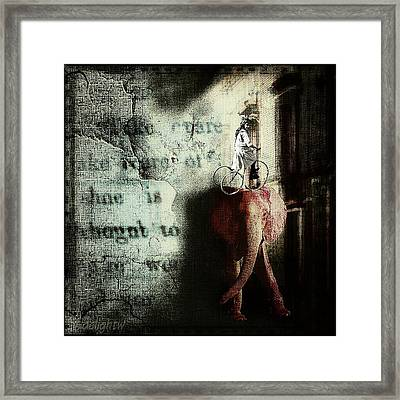Framed Print featuring the digital art In The Night Nursery by Delight Worthyn