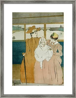 In The Omnibus Framed Print by Mary Cassatt