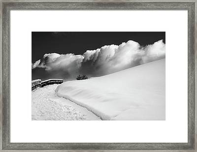in the Ore Mountains Framed Print by Dorit Fuhg