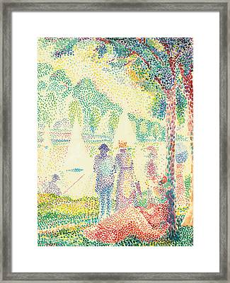 In The Park Framed Print by Hippolyte Petitjean