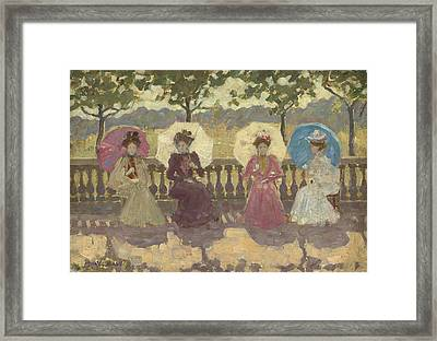 In The Park - Paris Framed Print