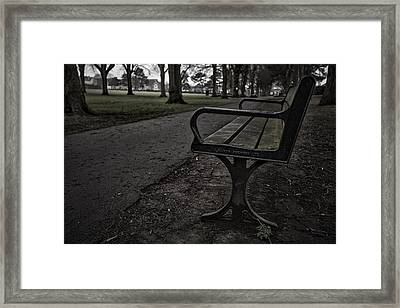 Framed Print featuring the photograph In The Park by Stewart Scott