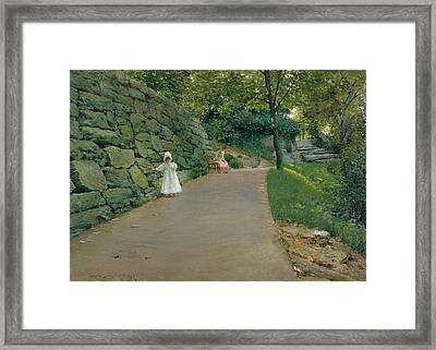 In The Park Framed Print by William Merritt Chase