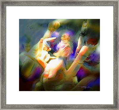 In The Pit Framed Print