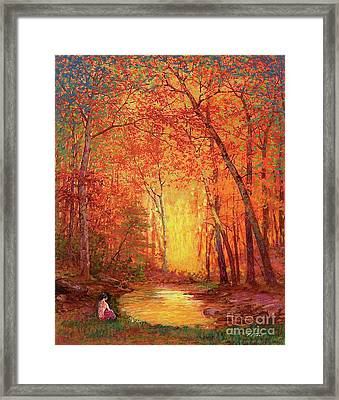 In The Presence Of Light Meditation Framed Print
