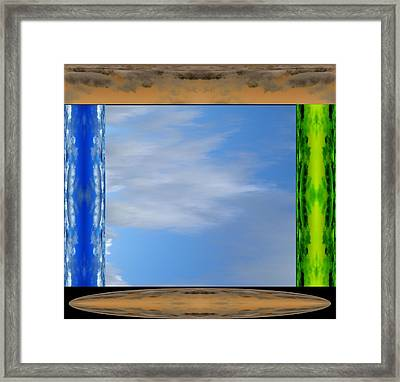 In The Presence Of The Divinity Framed Print by Geoff Simmonds