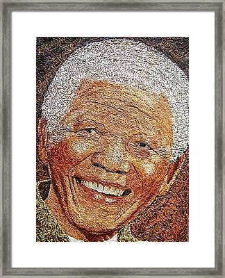 Nelson Mandela - In The Pyramid Of Our Minds Framed Print by Bankole Abe