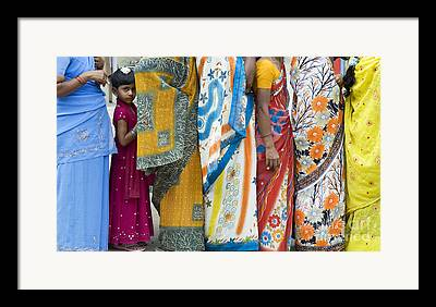 Colorful Fabric Framed Prints