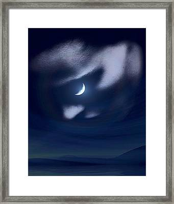 In The Quiet Of Your Mind Blue Framed Print by ISAW Gallery