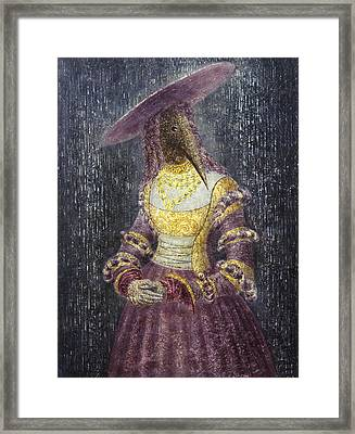 In The Rain Framed Print