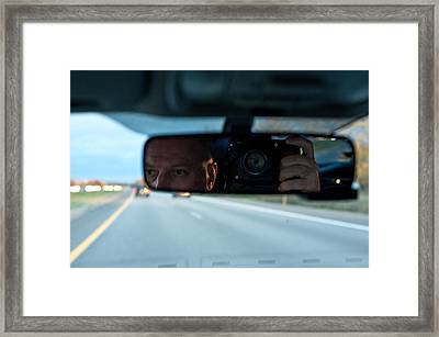 In The Road Framed Print