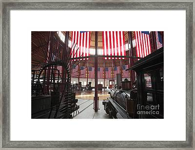 In The Roundhouse At The B And O Railroad Museum In Baltimore Framed Print