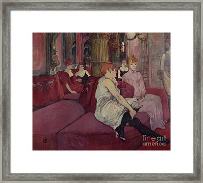 In The Salon At The Rue Des Moulins Framed Print
