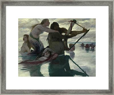 In The Sea Framed Print by Arnold Bocklin