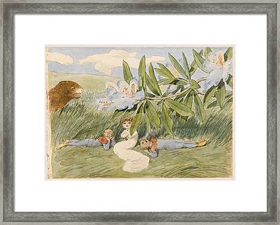 In The Shade Framed Print by Charles Altamont Doyle