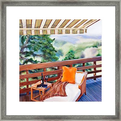 In The Shade Framed Print by Denise H Cooperman