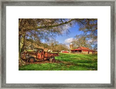In The Shade Georgia Farm Scene Art Framed Print