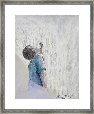 In The Shadow Of His Wing Framed Print by Beau Ettestad