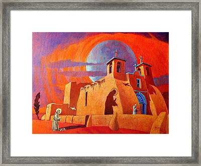 In The Shadow Of St. Francis Framed Print by Art West