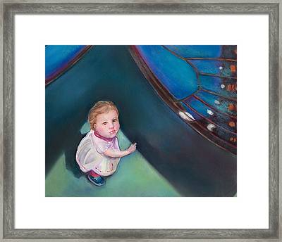 In The Shadow Of The Butterfly Framed Print by Mary Johnson