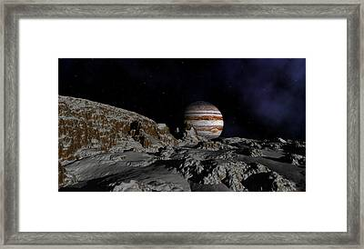 In The Shadows Of A Distance Giant Framed Print