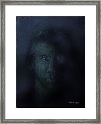 In The Shadows Of Despair Framed Print by Arline Wagner