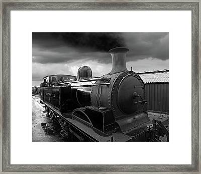 In The Siding - Metropolitan Steam Train Framed Print by Gill Billington