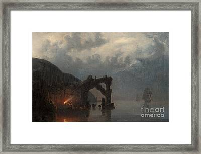 In The Silence Of The Night Framed Print