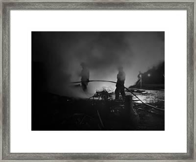 In The Smoke Framed Print