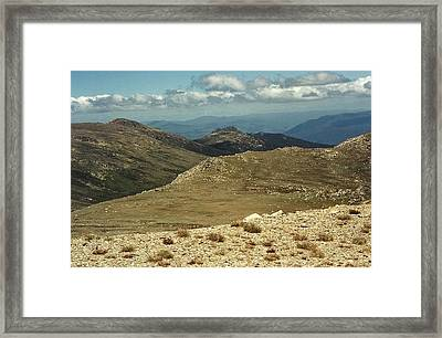 In The Snowy Mountains Framed Print by Adrianne Wood