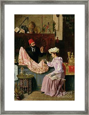 In The Souk, 1891 Framed Print