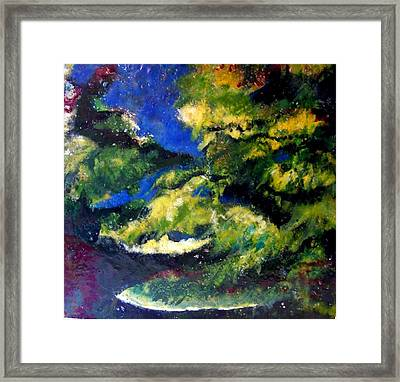 In The Spaces Framed Print by Karla Phlypo-Price