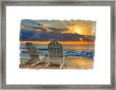 In The Spotlight Bordered Framed Print by Debra and Dave Vanderlaan