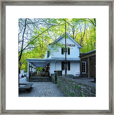 Framed Print featuring the photograph In The Spring At Valley Green Inn by Bill Cannon