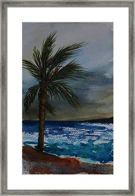 In The Storm Framed Print by Yvonne Kinney