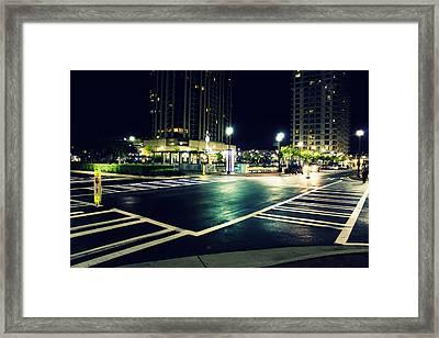 In The Street Framed Print