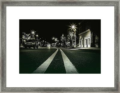 In The Streets Framed Print