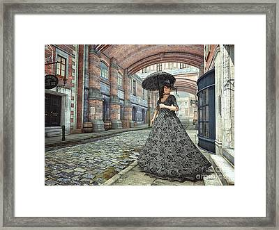 In The Streets Of Old London Framed Print by Jutta Maria Pusl