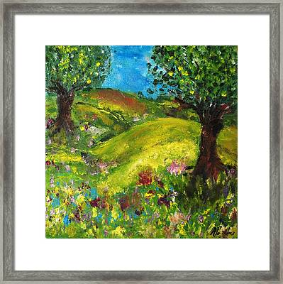 Framed Print featuring the painting In The Summer by Evelina Popilian