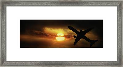 In The Suns Shadow Framed Print by Martin Newman