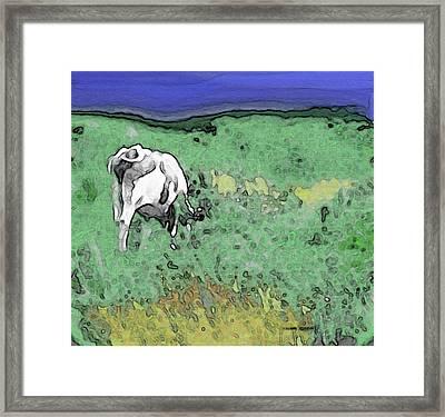 In The Sweet Fields Framed Print