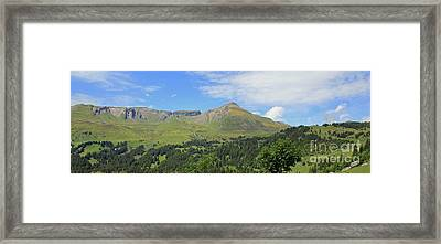 In The Swiss Alps Jungfrau Region Framed Print