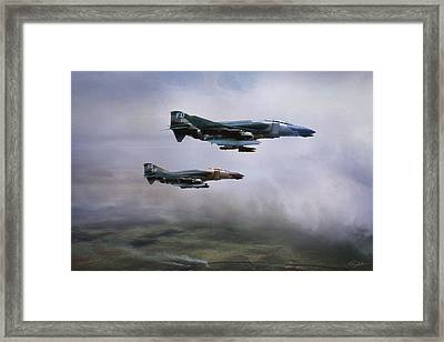 In The Thick Of It Framed Print by Peter Chilelli