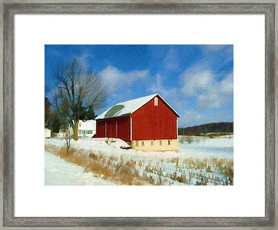 In The Throes Of Winter Framed Print by Sandy MacGowan