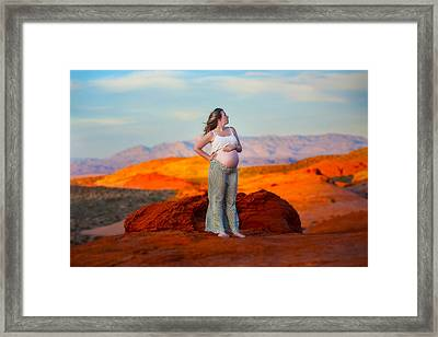 Framed Print featuring the photograph In The Valley Of Fire by Ryan Smith
