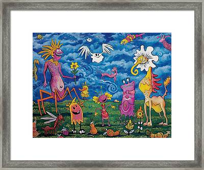 In The Valley Of Plantumi Framed Print