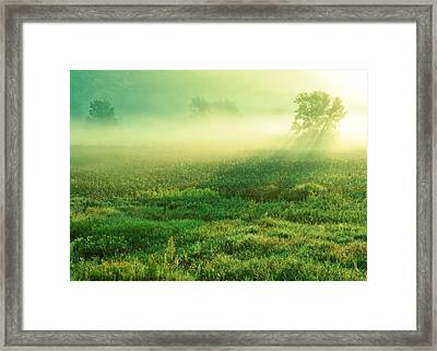 In The Valley Of The Autumn Mist Framed Print