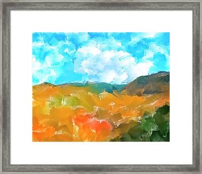 In The Valleys Framed Print